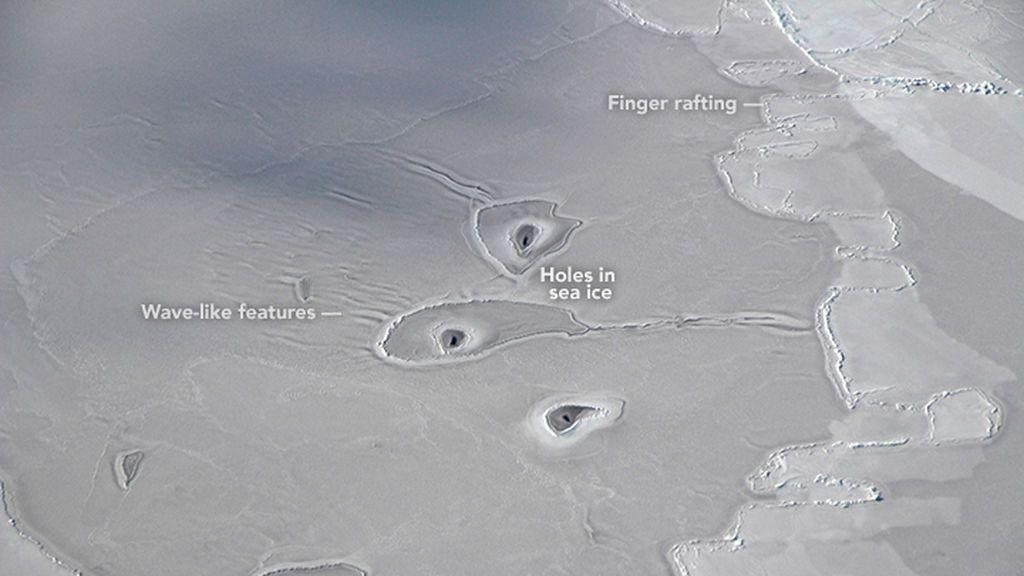 misteriosos circulos hielo antártida descubiertos nasa