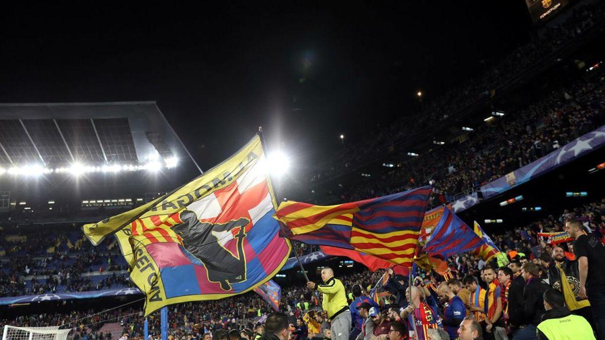 Expulsados de una Feria en Barcelona al confundir la camiseta de Aragón con la 'senyera' del Barça