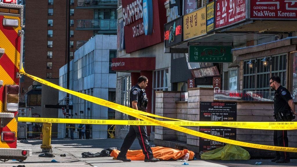 Las imágenes del atropello masivo en Toronto