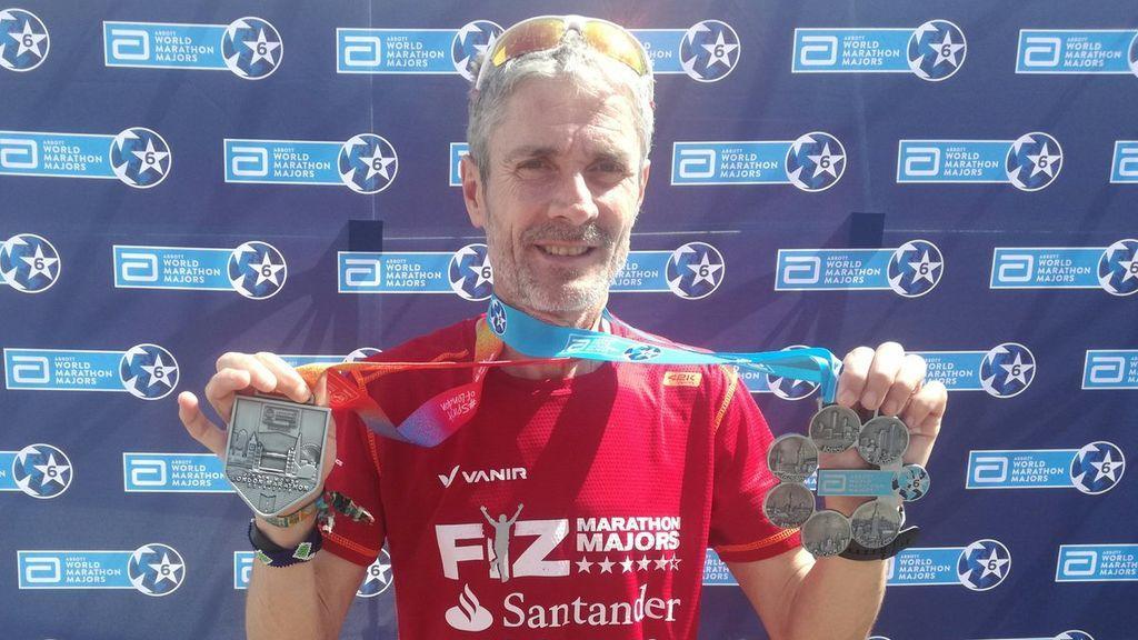 Martín Fiz vence en Londres y se convierte en el primer atleta en ganar los seis maratones