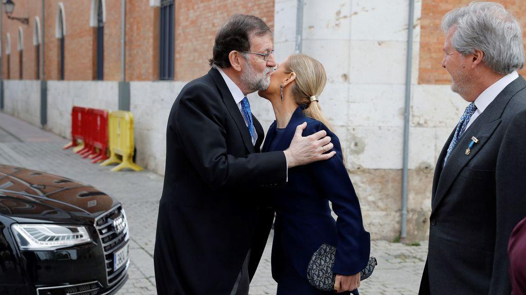 Rajoy y Cifuentes, juntos en el Premio Cervantes