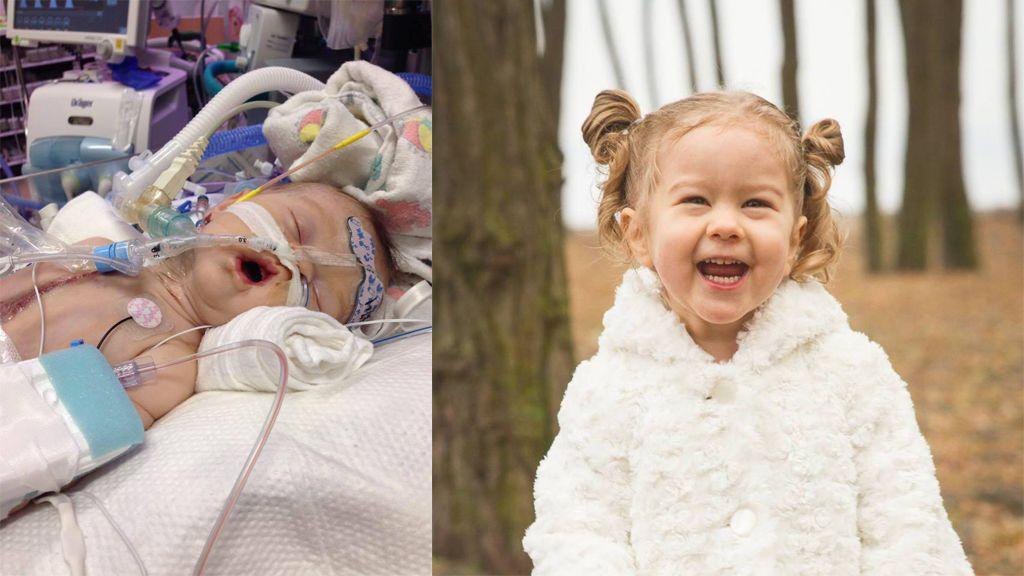 La primera niña a la que le ponen una válvula cardíaca continúa feliz con su vida