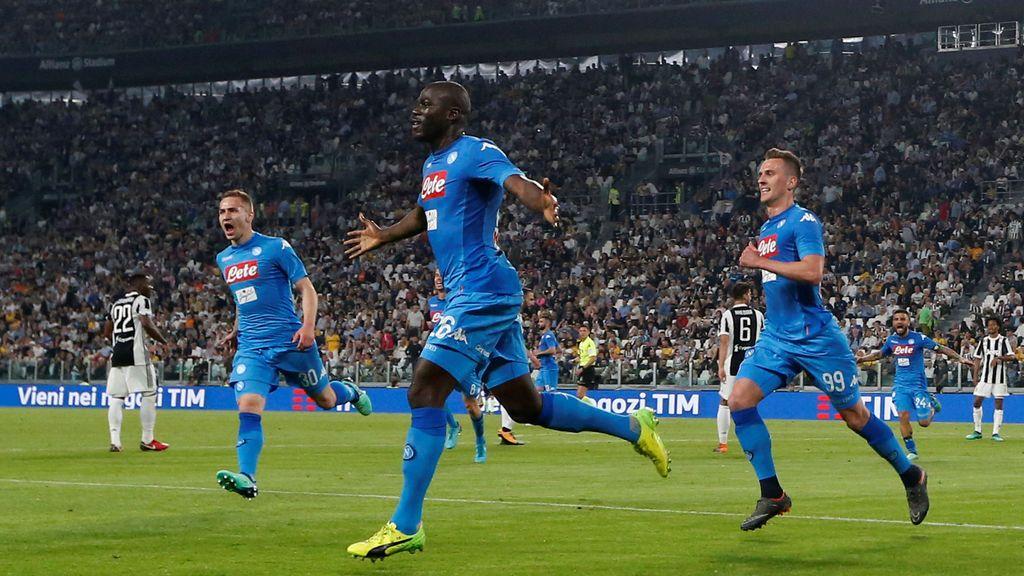 """Pequeño """"terremoto"""" en Nápoles tras el gol de Koulibaly a la Juventus"""