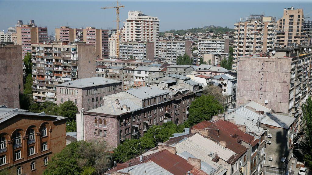 Ereván a vista de pájaro