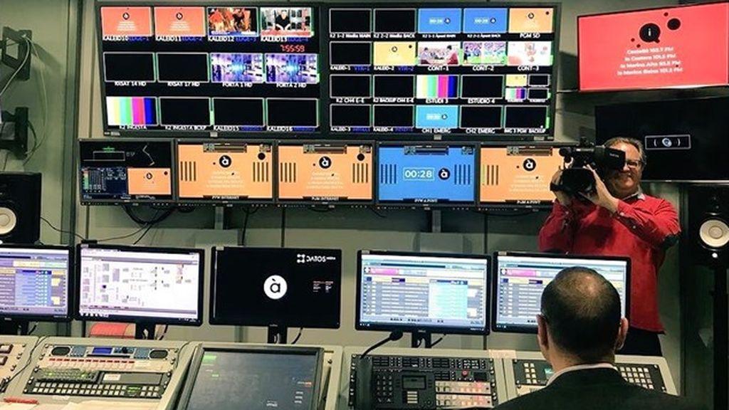 Control de realización de la televisión pública valenciana À Punt.