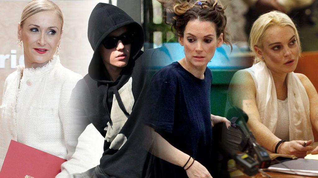 Cifuentes, Winona, Bieber, Lindsay Lohan... Vips y ladrones