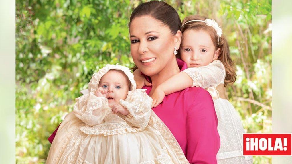 """Isabel Pantoja, en 'Hola' con sus nietas : """"Me emociono al mirarla, son los ojos de Paco"""""""