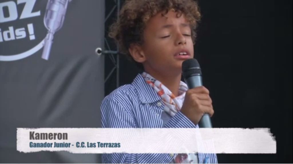 Kameron conquista Gran Canaria y se convierte en ganador junior de 'Gana con tu voz'