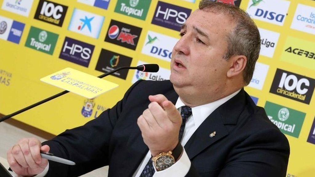 Miguel Ángel Ramírez, presidente de Las Palmas, detenido al aterrizar en Gran Canaria procedente de Miami