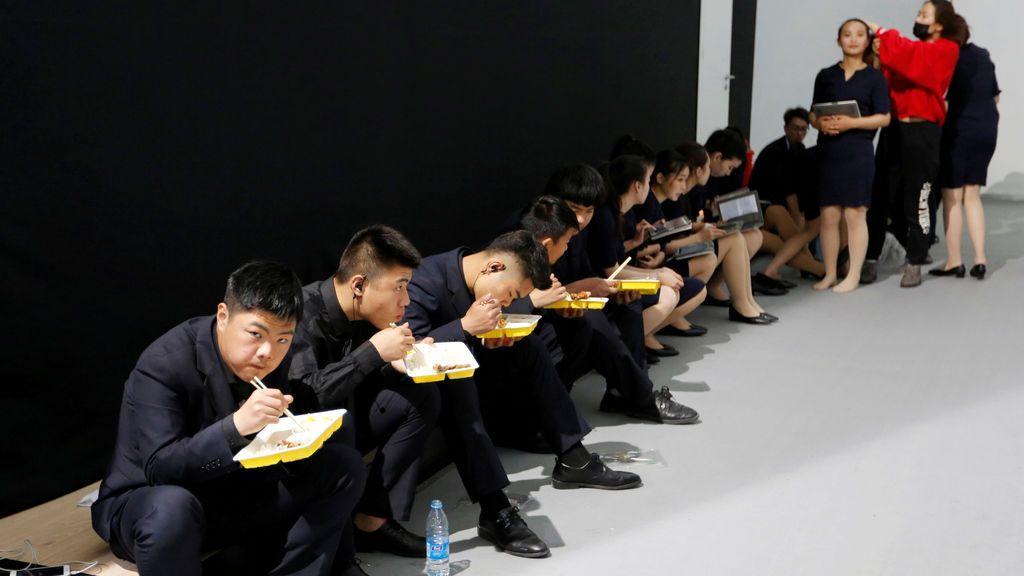 Descanso el salón del automóvil chino