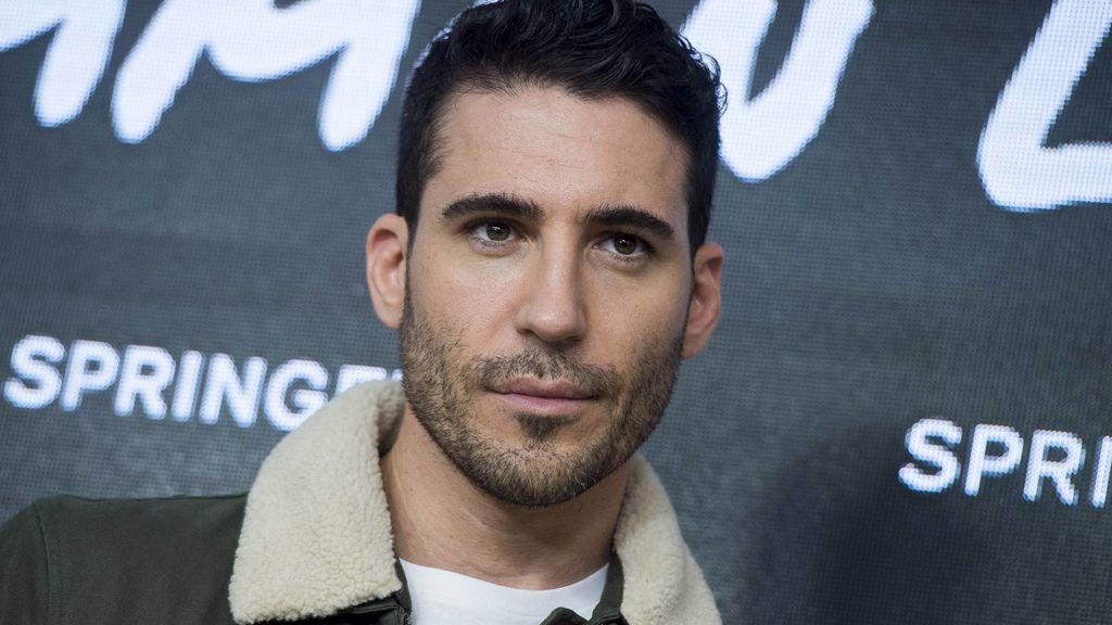 Miguel Ángel Silvestre, durante la presentación en Madrid del 'fashion film' 'As you life' de Springfield el 31 de octubre del 2018.