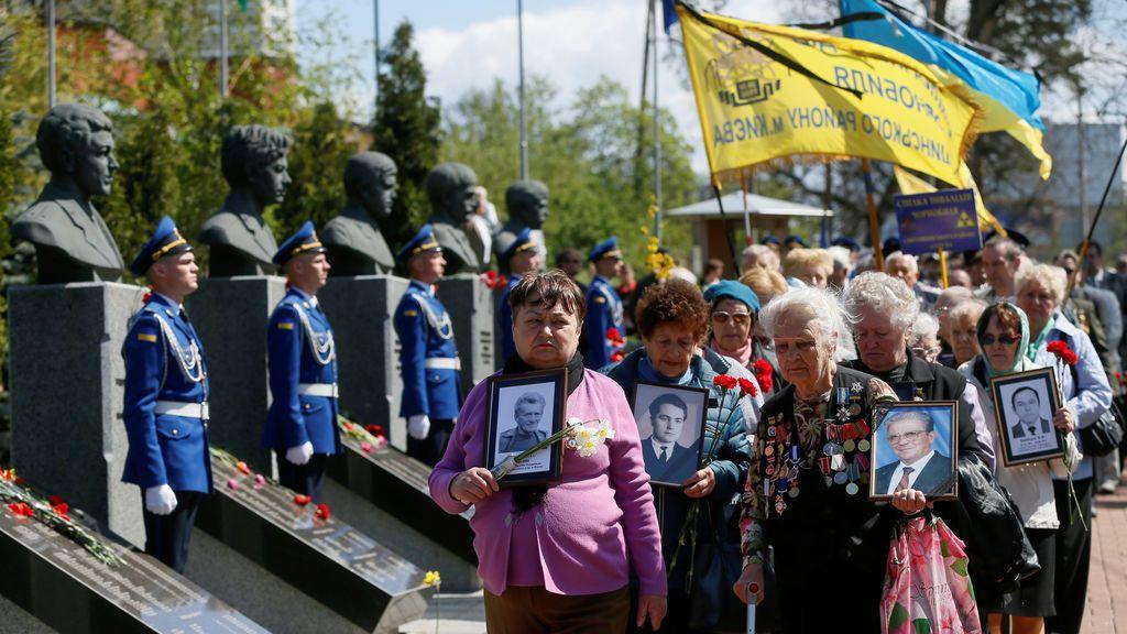 Homenaje a las víctimas de Chernobyl