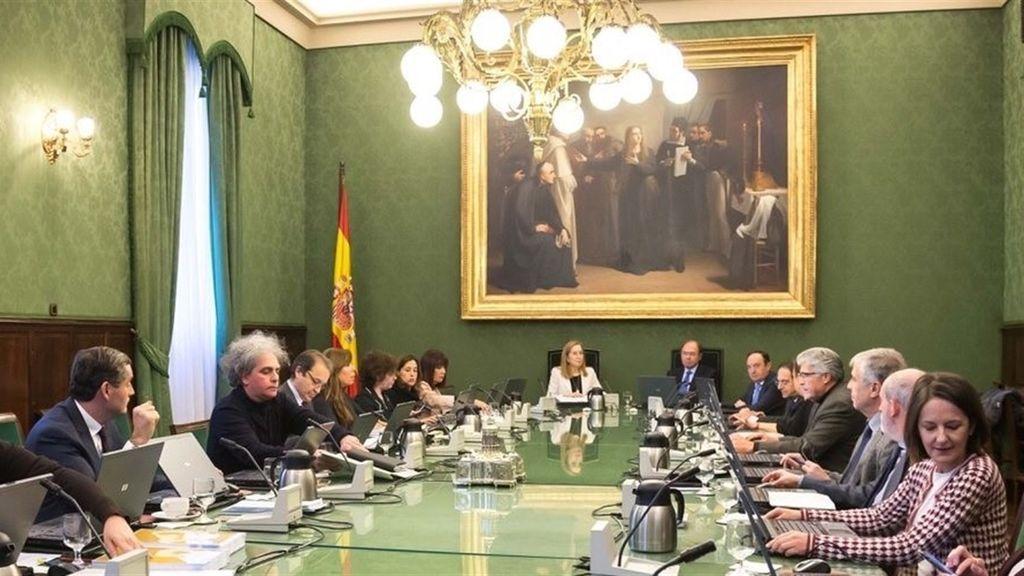 Reunión conjunta de las Mesas del Congreso y el Senado.