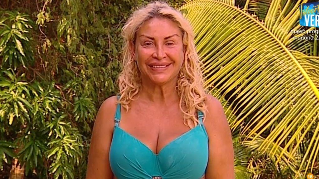 Raquel Mosquera, durante la emisión de la séptima gala de 'Supervivientes 2018'.