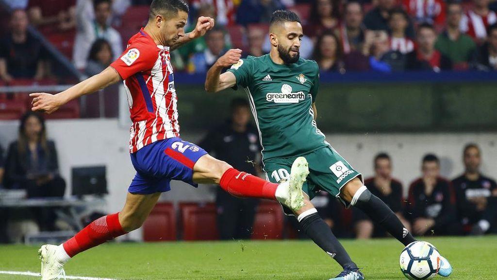 Imagen del partido de liga disputado  el 22 de abril de 2018 entre el Atlético de Madrid y el Betis, que finalizó con un empate a 0.