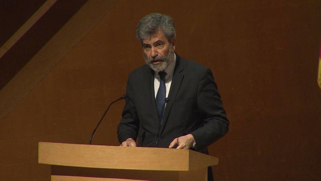"""Lesmes afirma que las críticas a la sentencia a 'La Manada' pueden """"comprometer"""" el sistema de justicia"""