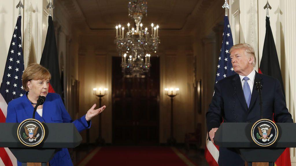 Trump y Merkel mantienen sus diferencias en la visita de la canciller alemana a Washington