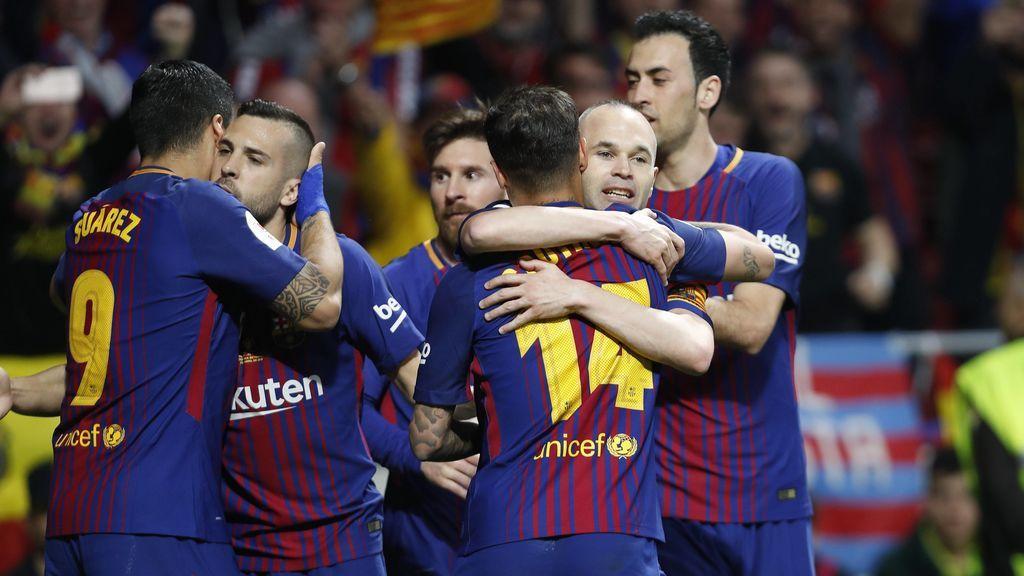 La felicitación del Real Madrid al Barcelona tras la conquista de la Copa del Rey y la Liga