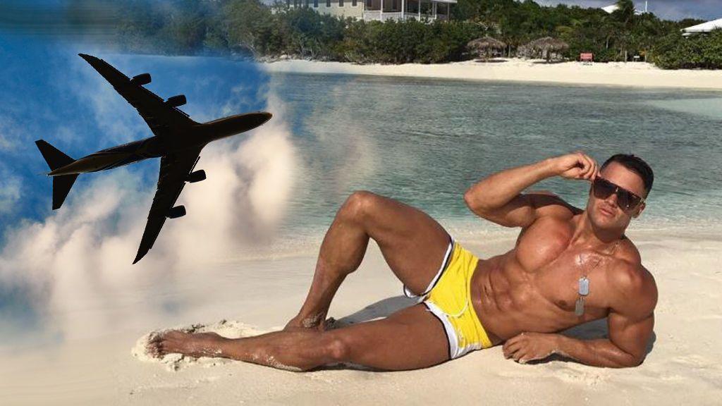 Fabio Agostini, desalojado del vuelo en que viajaba por un problema con el avión