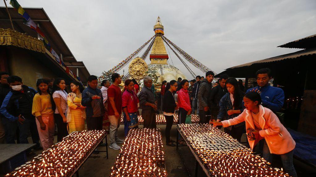 Celebraciones de cumpleaños de Buda en Katmandú