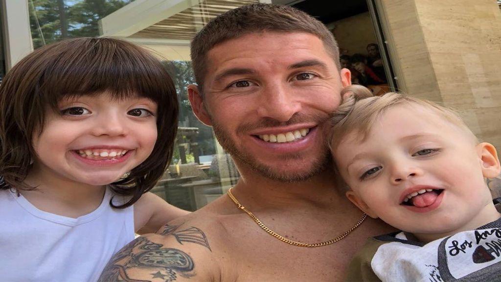 """Los hijos de Sergio Ramos animan a su padre con un tierno mensaje antes de enfrentarse al Bayern: """"¡A ganaaaar!"""""""