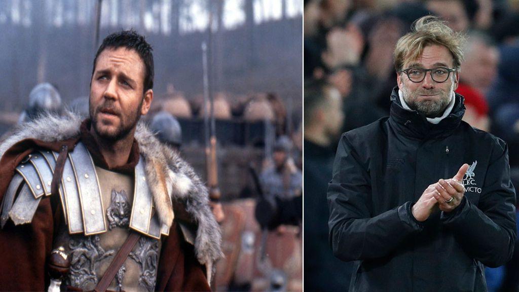 El 'zasca' del actor Russell Crowe a Jurgen Klopp antes del Roma-Liverpool