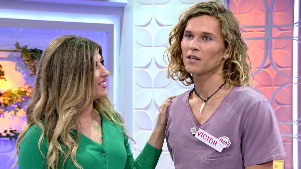 Llega Víctor, un deseo cumplido de Sophie que le recibe con cara de enamorada