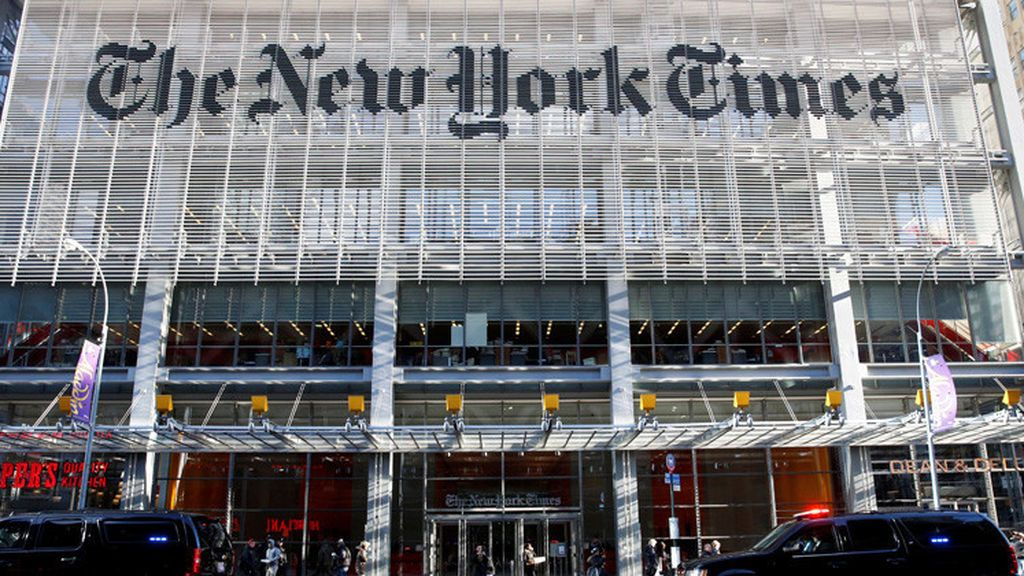 Fachada del edificio del diario 'The New York Times' en Nueva York.