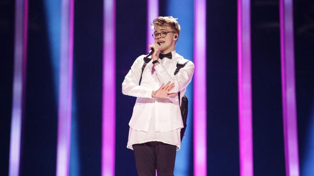 Mikolas Josef, representante de República Checa en Eurovisión 2018, ensaya por primera vez en el certamen europeo la canción 'Lie to me'.