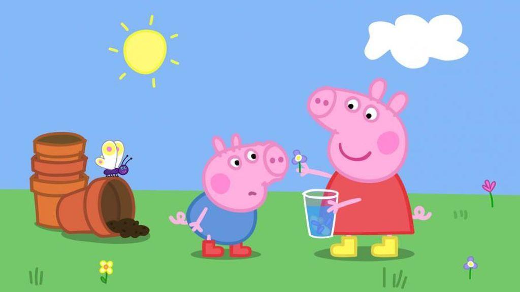 George y Peppa Pig, protagonistas de los dibujos infantiles 'Peppa pig'.