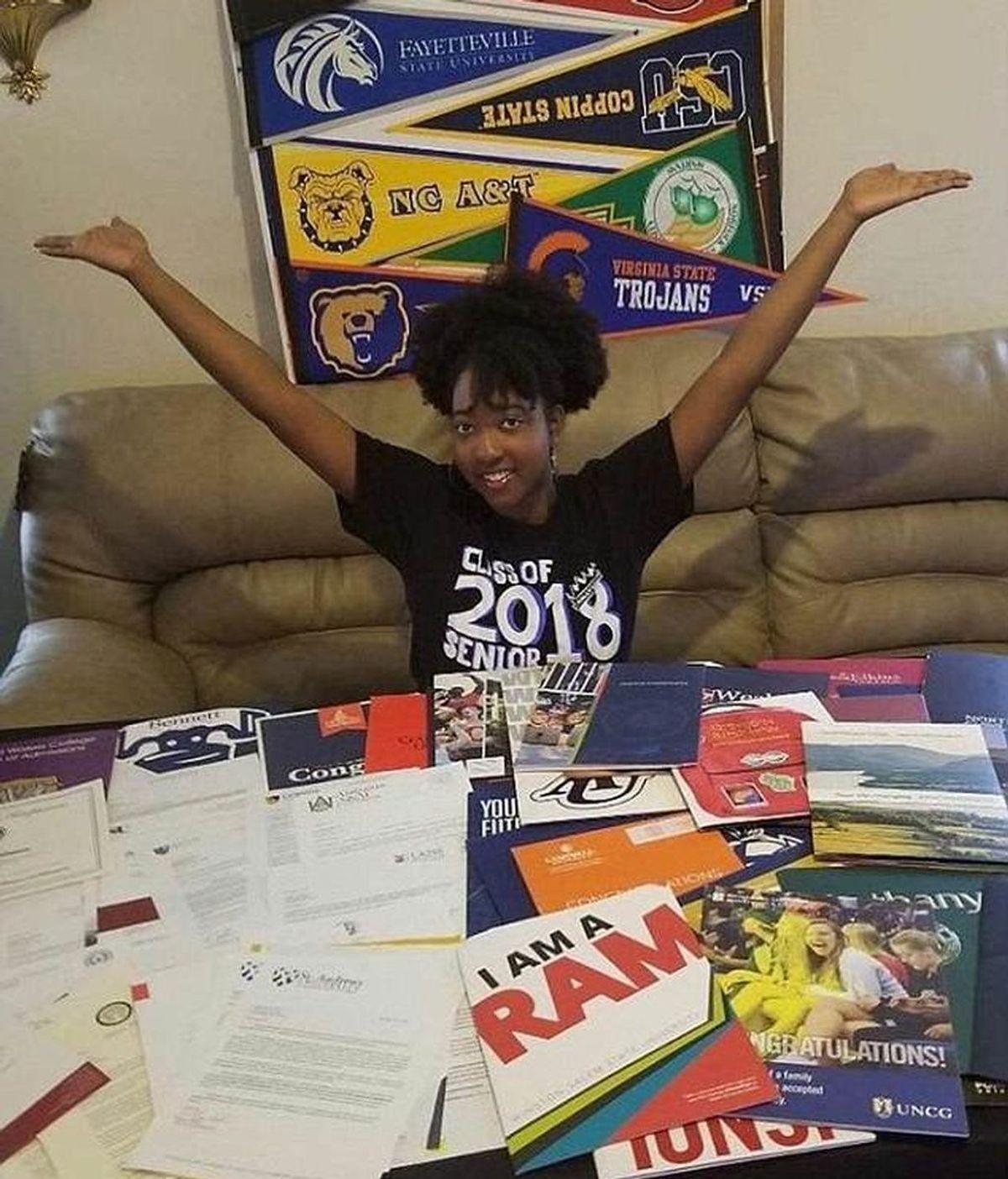 Una adolescente estadounidense es aceptada en 113 universidades