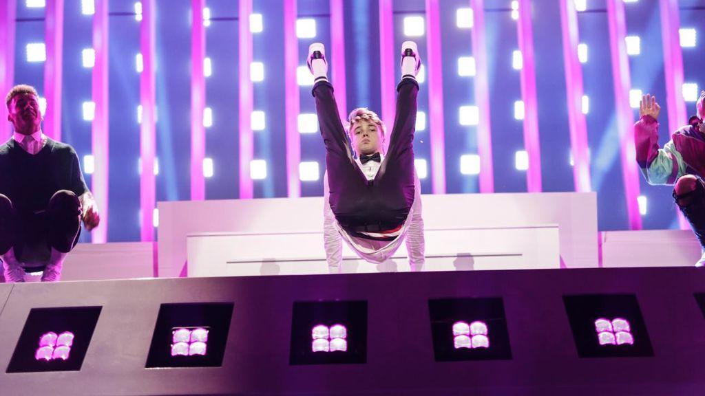 Mikolas Josef, en el ensayo de su actuación en Eurovisión.
