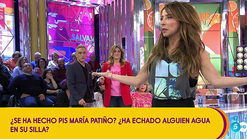 Momentazo: El misterio del agua en la silla de María Patiño