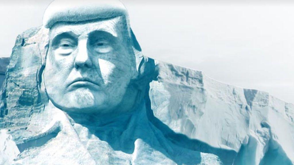 Pretenden esculpir el rostro de Trump en un glaciar para demostrar el cambio climático