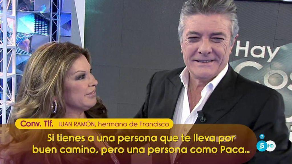 """Juan Ramón culpa a Paca de la mala relación con su hermano Francisco: """"Ha tenido mucho que ver con separar a la familia"""""""