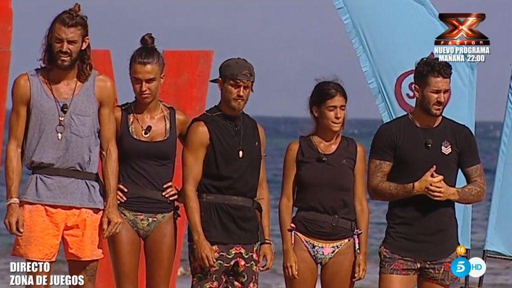 Imagen de la última gala de 'Supervivientes', en la que salieron nominados Francisco, Alberto, Hugo y Melissa.