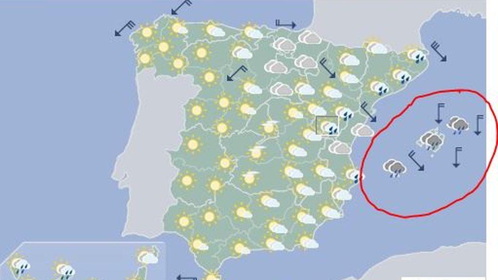 Fin de semana complicado en las Islas Baleares por las tormentas: ¡Menorca se lleva la peor parte!