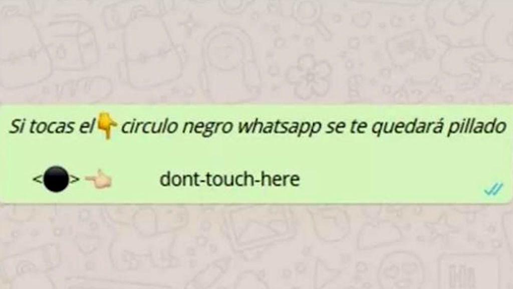 El botón Negro de WhatsApp:  No lo toques que se bloquea