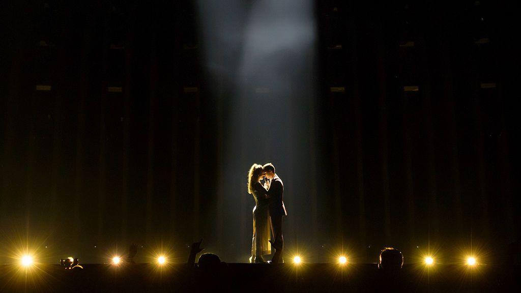 Amaia y Alfred ensayo Eurovisión