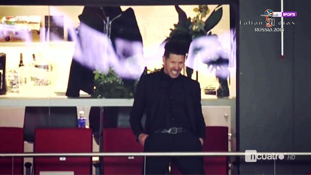 Así vivió Simeone el partido del Atleti desde la soledad de un palco del Metropolitano