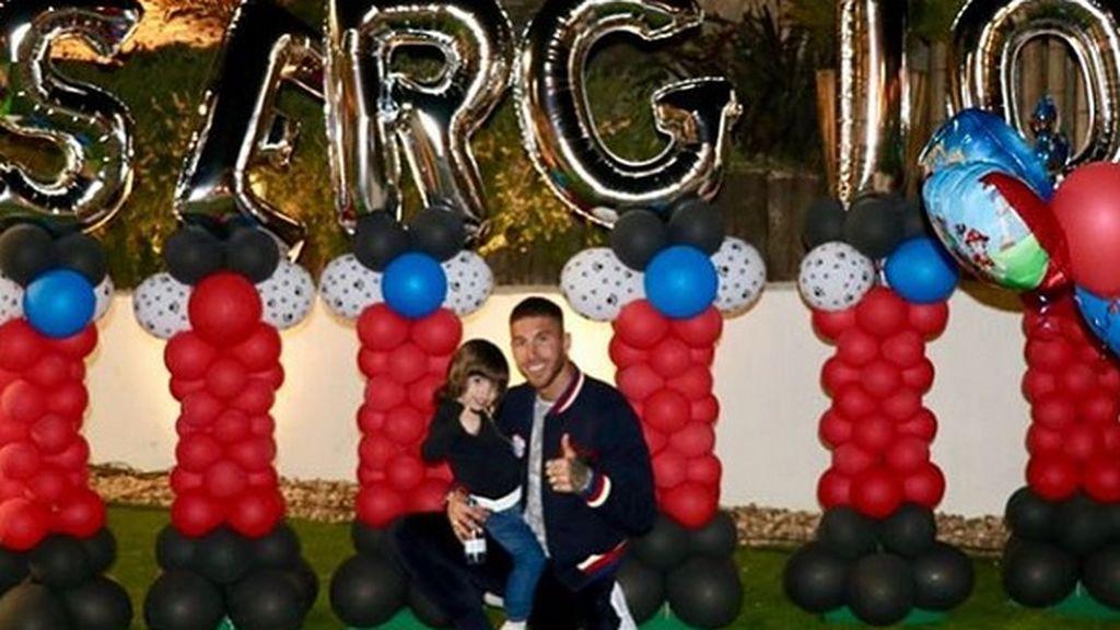 Sergio Ramos y Pilar Rubio celebran el cumpleaños de su hijo Sergio con una súper fiesta