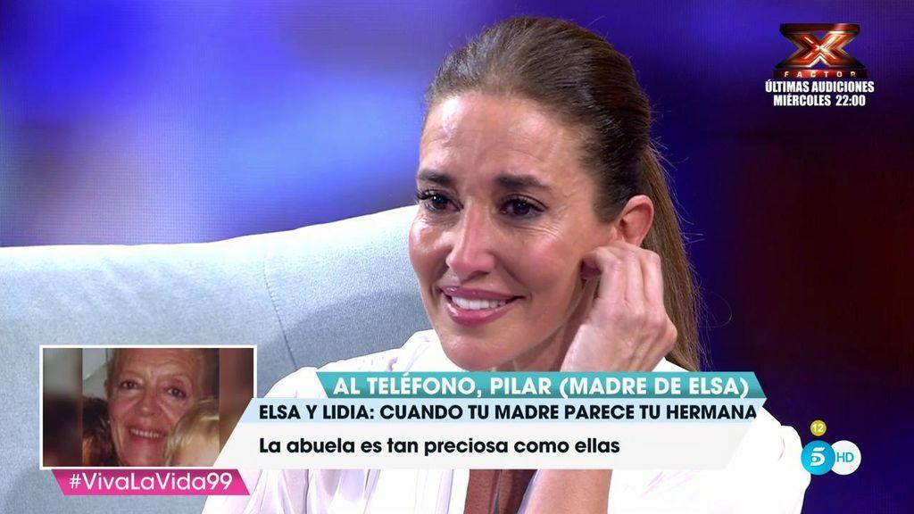 Elsa Anka, muy emocionada, rompe a llorar tras la llamada sorpresa de su madre