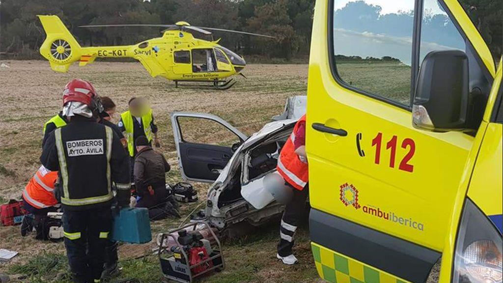 Dos muertos y dos heridos en un accidente en la A-6 a la altura de Espinosa de los Caballeros (Ávila)