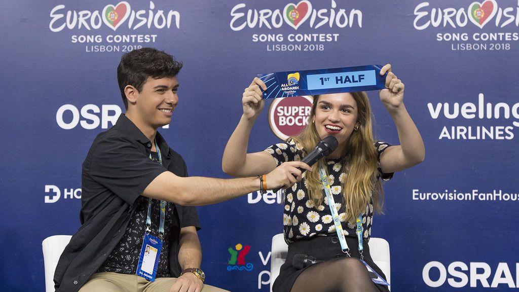 """Amaia y Alfred ensayan a menos de una semana de Eurovisión """"como la primera vez"""""""