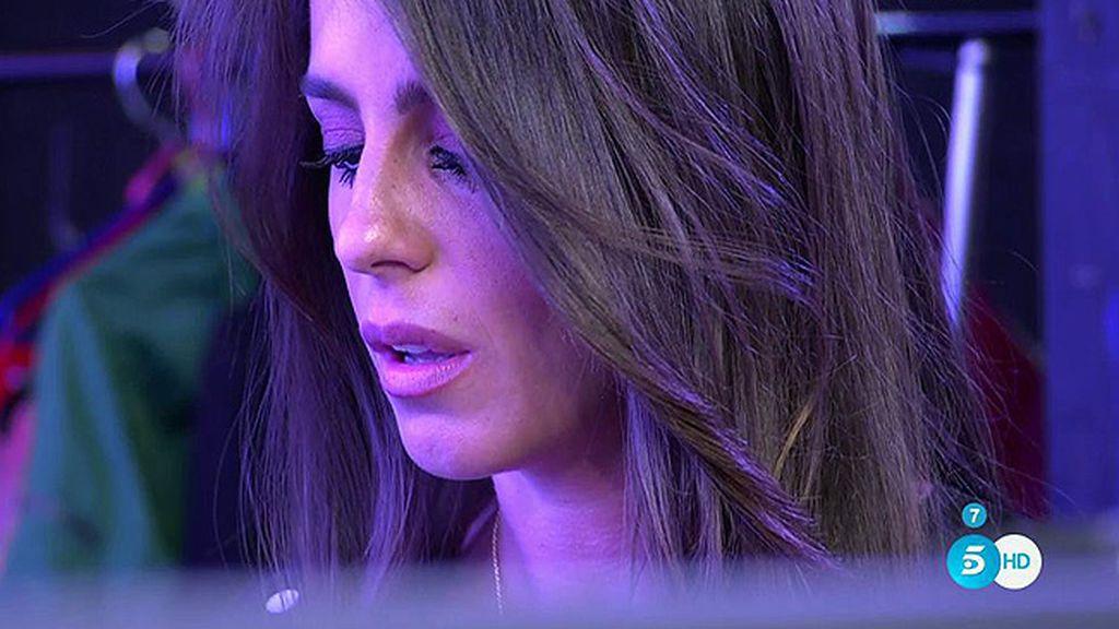 Anabel Pantoja se emociona y abandona el plató de 'Sálvame' tras ver un vídeo de su primo, Kiko Rivera