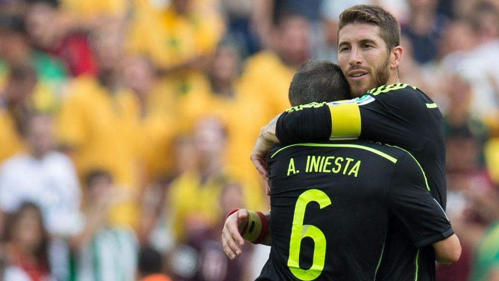 El guiño de Sergio Ramos a Iniesta en redes sociales tras el último 'El Clásico' del manchego