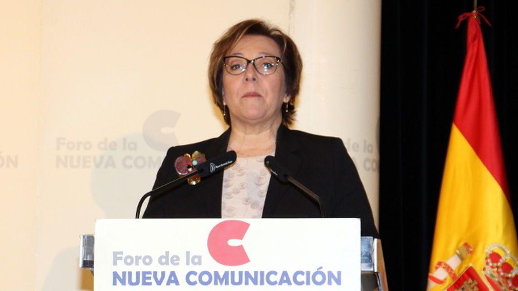 La secretaria de Estado de Comunicación, Carmen Martínez Castro, en el Foro de la Nueva Comunicación el 20 de abril de 2018.