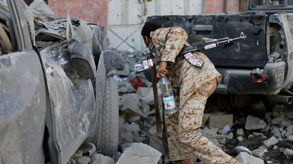 Consecuencias del bombardeo en Yemen