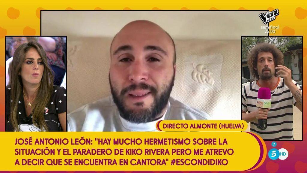 """José Antonio León, sobre el paradero desconocido de  Kiko Rivera: """"Suponemos que está en Cantora"""""""