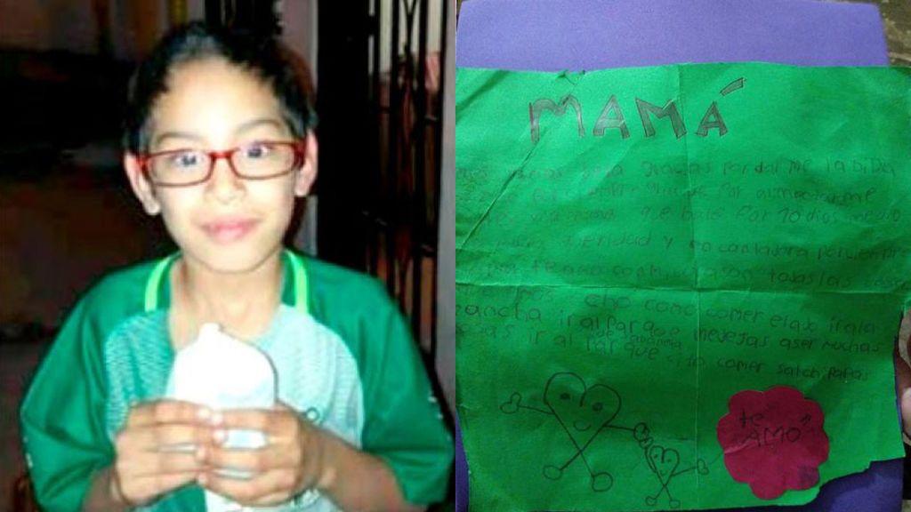 Le escribe una emotiva carta a su madre pero un autobús le mata antes de entregársela
